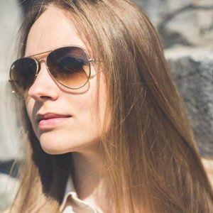 NWT RB3025 Progressive Khaki Aviators Sunglasses